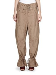 Acne Studios Wide Leg Pants Beige