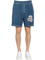 Dsquared Camping Patch Cotton Jersey Sweat Shorts Petrol