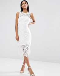 Ax Paris Crochet Midi Dress Cream