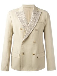 Ermanno Scervino Button Up Jacket Nude Neutrals