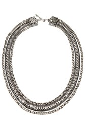 The Kooples Layered Chain Necklace Silver