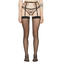 Agent Provocateur Black And Pink Lorna Ouvert Briefs