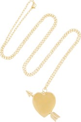Jennifer Fisher Large Heart Gold Plated Necklace Metallic