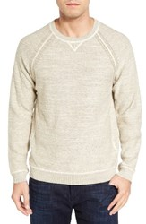 Tommy Bahama Men's Sandy Bay Reversible Crewneck Sweater Natural