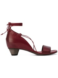 Roberto Del Carlo Oil Sandals Red