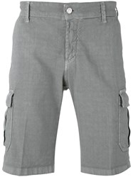 Entre Amis Cargo Shorts Men Cotton Linen Flax 33 Grey
