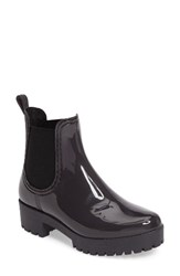 Jeffrey Campbell Women's Cloudy Chelsea Rain Boot Grey Shiny