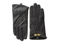 Ted Baker Bowra Metal Bow Leather Gloves Black Extreme Cold Weather Gloves