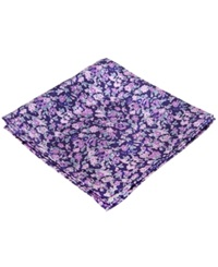 Ryan Seacrest Distinction Westcoast Floral Pocket Square Purple