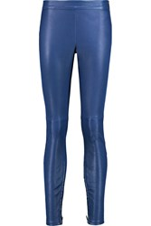 Muubaa Rica Stretch Leather Skinny Pants Blue