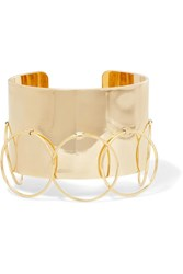 Arme De L'amour Halo Gold Plated Cuff One Size