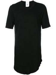 Lost And Found Rooms Curved Hem T Shirt Men Cotton Xl Black