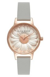 Olivia Burton Women's 'Flower Show' Leather Strap Watch 30Mm