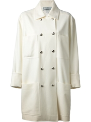 Jean Louis Scherrer Vintage Double Breasted Coat White