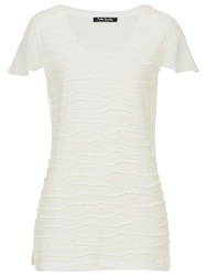 Betty Barclay Short Sleeve Ribbed T Shirt Off White