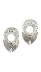 Erickson Beamon Parker Earrings Silver