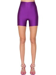 Fausto Puglisi Stretch Jersey Bike Shorts Purple