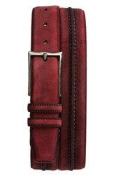Mezlan Suede Belt Red