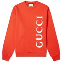 Gucci Large Logo Crew Sweat Red