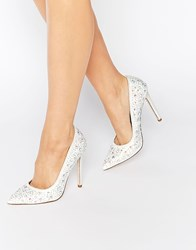 Asos Philippines Embellished Pointed High Heels Cream