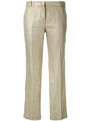 Kiltie Cropped Trousers Nude And Neutrals