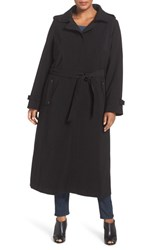 Gallery Plus Size Women's Long Nepage Raincoat With Detachable Hood And Liner