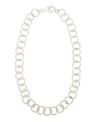 Stephanie Kantis Circle Link Sterling Silver Necklace