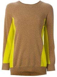 Erika Cavallini Semi Couture Colour Block Sweater Brown