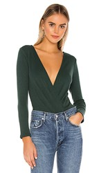 Privacy Please Bolt Bodysuit In Green. Emerald Green