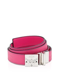 Mcm Berlin Series Belt Beetroot Pink Silver