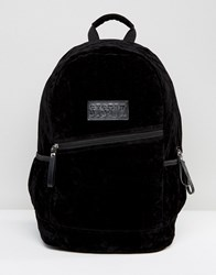Systvm Backpack In Black Faux Fur Black