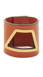 Marni Leather Bracelet Light Orange