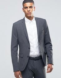 Selected Homme Suit Jacket In Super Skinny Fit Grey