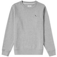 Saturdays Surf Nyc Bowery Miller Standard Embroidered Crew Sweat Grey