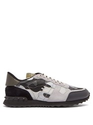 Valentino Camouflage Rockstud Low Top Trainers Black Multi