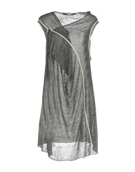 Malloni Short Dresses Steel Grey