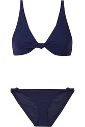 Tory Burch Knotted Triangle Bikini Navy