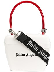 Palm Angels Padlock Tote White
