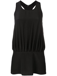 Aspesi Silk Tank Top Black