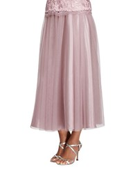Alex Evenings Lace Pleated Skirt Antique Rose