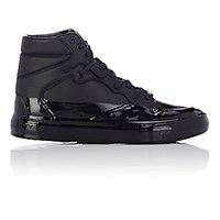Balenciaga Men's Patent Dipped High Top Sneakers Black Blue Black Blue