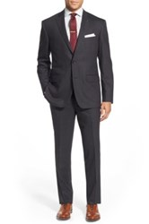 Wallin And Bros Two Button Plain Weave Suit Gray