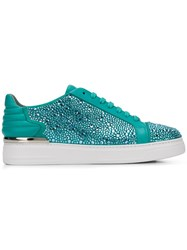 Philipp Plein Embellished Low Top Sneakers 07 Light Blue