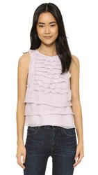 L'agence Charisse Raw Edge Blouse Lilac