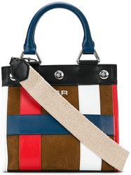 Sonia Rykiel Small Colour Block Tote Brown