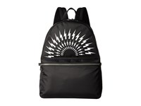 Neil Barrett Thunderbolt Nylon Backpack Black White