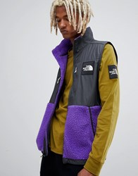 The North Face Denali Fleece Vest In Purple