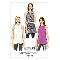 Vogue Very Easy Women's Sleeveless Top Sewing Pattern 9109