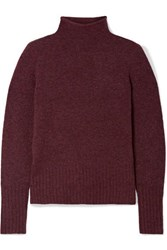 Madewell Inland Knitted Turtleneck Sweater Burgundy