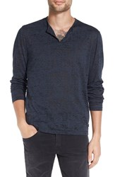 John Varvatos Men's Star Usa Eyelet Henley